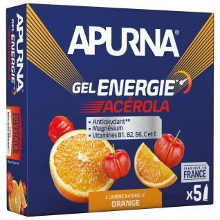 Confezione da 5 gel Apurna Energie Acérola Orange - 35g