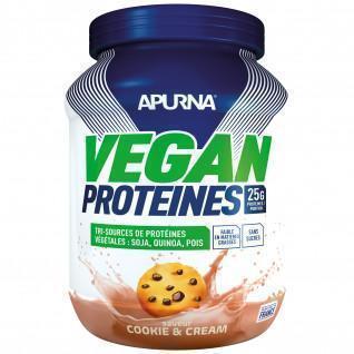 Proteina vegana Apurna Cookie and cream - Pot 600g