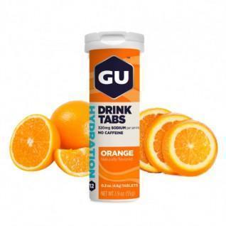 Tubo di 12 compresse di idratazione Gu Energy orange (x8)