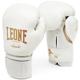 Guanti da boxe bianchi e neri Leone 12 oz