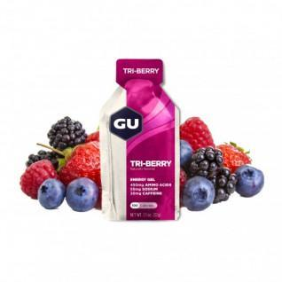 Confezione da 24 gel Gu Energy 3 fruits rouges