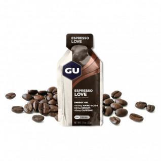 Confezione da 24 gel caffeinati Gu Energy Espresso