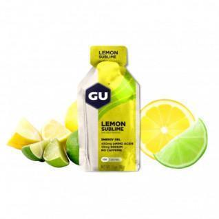 Lotto di 24 Gel Gu Energy Energy al limone intenso senza caffeina