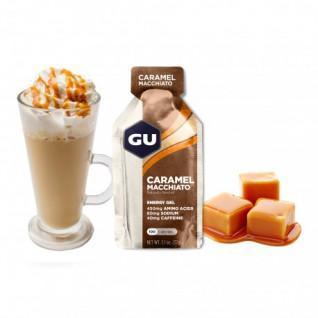 Lotto di 24 Gel Gu Energy caramello macchiato al caramello caffeinato