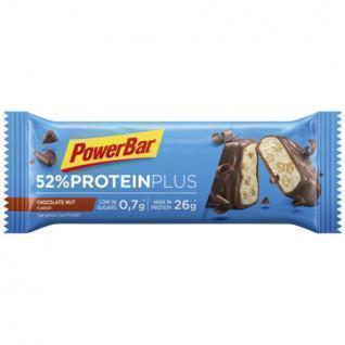 Confezione da 20 barrette PowerBar 52% ProteinPlus Low Sugar Chocolate Nut