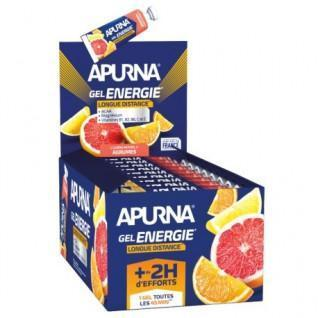 Confezione da 25 gel Apurna Energie longue distance agrumes - 35g