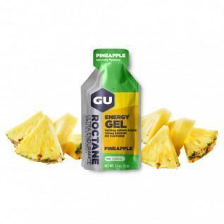 Lotto di 24 gel Roctane Gu Energy ananas senza caffeina
